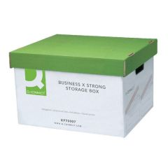 Archive Storage Box Extra Strong Green/White Pack 10