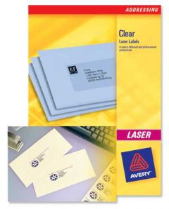 L7551 Clear Avery Laser Labels 65 per Sheet - 25 Sheets
