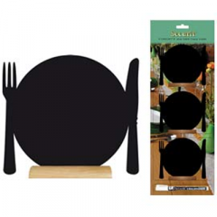 Securit Silhouette plate mini chalkboard,