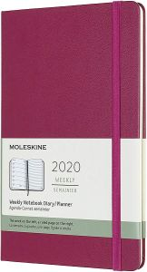 Moleskine  Large Snappy Pink Weekly Notebook Diary 12 Months Hard 2020