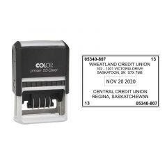 40mm x 60mm 7 Line Self-Inking Printer 55-Dater