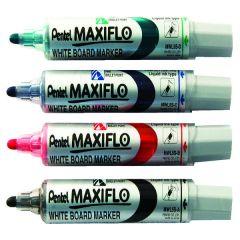 Pentel Maxiflo W/Brd Bullet Marker Pk4