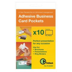 Pelltech Business Card Pockets Top Opening 100's