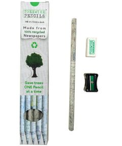 Treewise Pencils Pk10' With Sharpener and Eraser