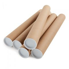 Postal Tube 625x50mm Brown Kraft