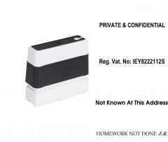 10mm x 60mm Personalised Self Inking Rubber Stamp