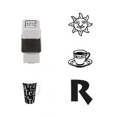 12mm x 12mm Personalised Self Inking Rubber Stamp