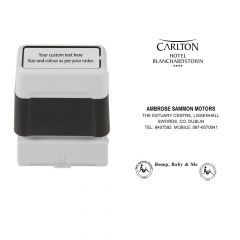 22mm x 60mm Personalised Self Inking Rubber Stamp