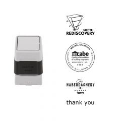 40mm x 40mm Personalised Self Inking Rubber Stamp