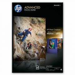 HP Advanced Glossy Photo Paper 250gsm A4 Pack of 50 Q8698A