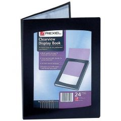 Clearview A4 Display Book 24 Pocket Black