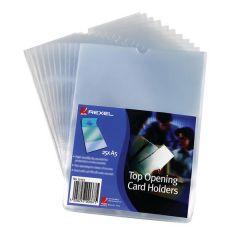 Rexel Nyrex Card Holder A4 Clear Open Top Pk 25