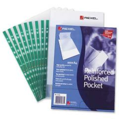 Rexel Copyking Punched Pocket CKP/A4 Pack of 100