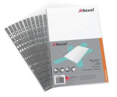 Rexel Nyrex Premium Presentation Pocket Pack 50