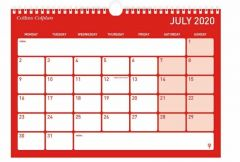 Monthly Mid Year Memo Calendar A4 2020/2021