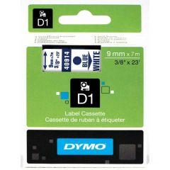 Dymo Tape Cartridge 40914 9mm Blue on White S0720690