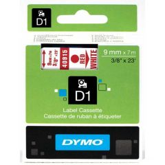 Dymo Tape Cartridge 40915 9mm Red on White S0720700