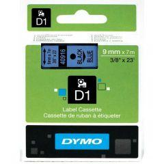 Dymo Tape Cartridge 40916 9mm Black on Blue S0720710