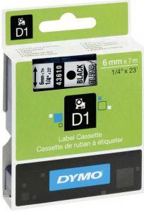 Dymo Tape Cartridge 43610 6mm Black on Clear S0720770