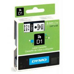 Dymo Tape Cartridge 43613 6mm Black on White S0720780