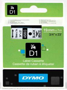 Dymo Tape Cartridge 45803 19mm Black on White S0720830