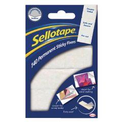 Sellotape Sticky Fixers Permanent 140 PK