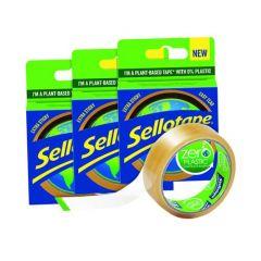 Sellotape Zero Plastic 24mm x 30m 3 For 2