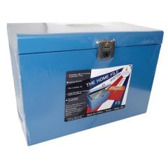 Cathedral Metal File Box Blue HOBL