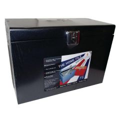 Cathedral Black Metal File Box HOBlack