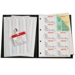 Identibadge Visitors Book With 100 Inserts