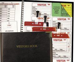 Identibadge Visitor System Book + Badges & Lanyards