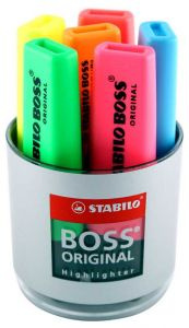 Stabilo Boss Highlighter Pen Tub of 6 Assorted 7006