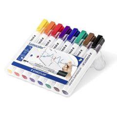 Staedtler Lumocolor 351 Drywipe Marker Asstd Pk8