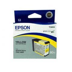 T580400 Epson Inkjet Cartridge Refill Ink Yellow T5804