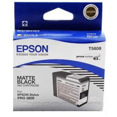 T580800 Epson Inkjet Cartridge Refill Ink Matte Black T5808