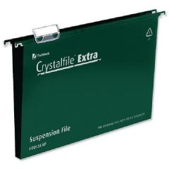 Rexel A4 Green Crystalfile Extra Pk25