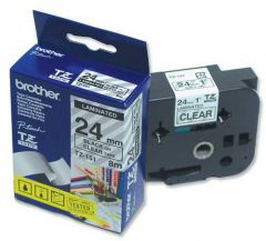 TZ151 Tape P-touch 24mm Black on Clear