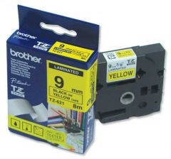 TZ621 Tape P-touch 9mm Black on Yellow