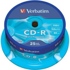 Verbatim CD-R DataLife 52X Spindle Pk25 43432