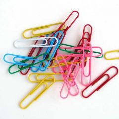 Paper Clips 32mm Coloured Boxed 10 x 100's