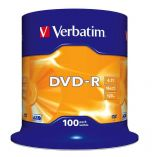 Verbatim DVD-R 16X Spind100 43549