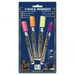 Securit Liquid chalk marker coloured set of 4