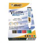 Bic Velleda Whiteboard Marker Bullet Tip Assorted Pack of 4