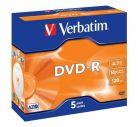 Verbatim DVD-R 16X 4.7Gb JC Pk5 43519