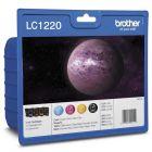 Brother LC-1220 Inkjet Cartridge Value Pk CYMK LC1220VALBP