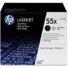 HP 55X LaserJet Toner Cartridge Black Twin Pack