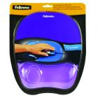 Fellowes Crystals Gel Purple Mouse Pad