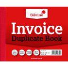 Silvine Duplicate Invoice Book 102x127mm (12 PK)
